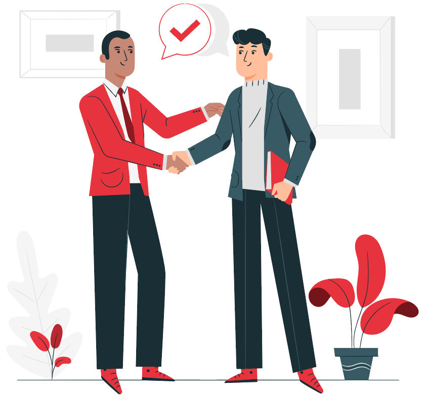 two men in business attire giving a handshake